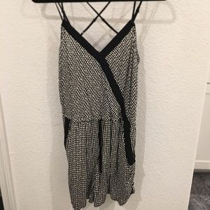 Xhilaration black and white patterned romper